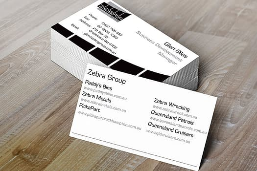 Zebra Group Rockhampton | Business Card Design