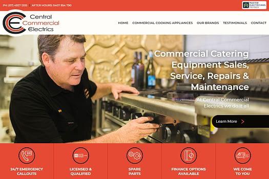 Central Commercial Electrics Rockhampton | Web Design