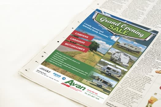 Avan RV CQ | Newspaper Advertising