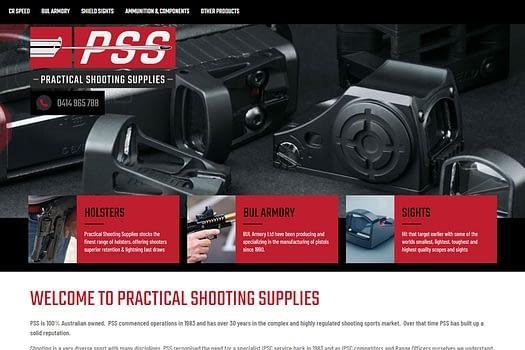 Practical Shooting Supplies Australia | Web Design