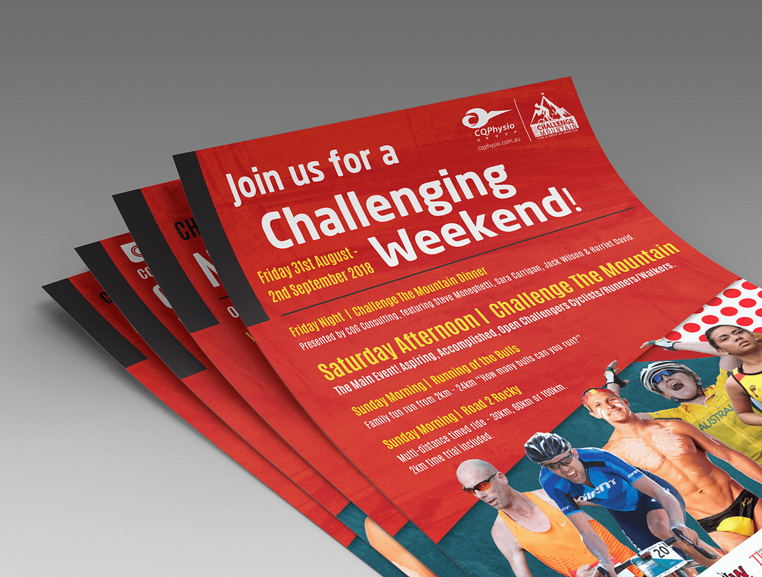 Challenge The Mountain Rockhampton | Flyer Graphic Design
