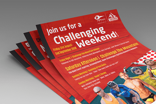 Challenge The Mountain Rockhampton | Flyer Graphic Design