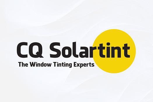 CQ Solar Tint Rockhampton | Typographic Logo Design