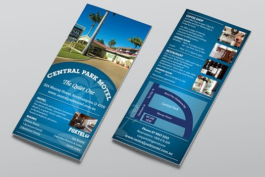 Central Park Motel Rockhampton | Flyer Graphic Design