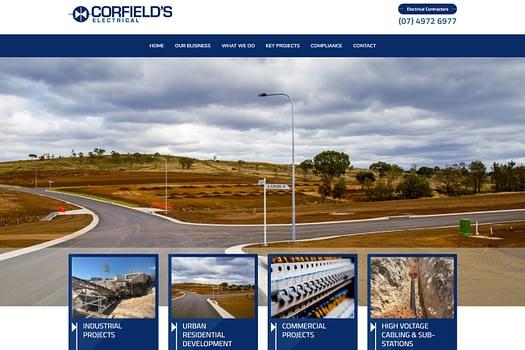 Corfields Electrical Gladstone | Web Design