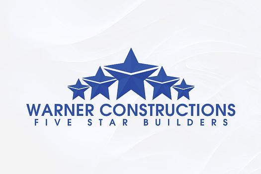Warner Constructions | Combination Logo Design