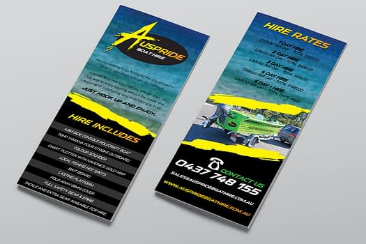 Auspride Boat Hire | Flyer Graphic Design