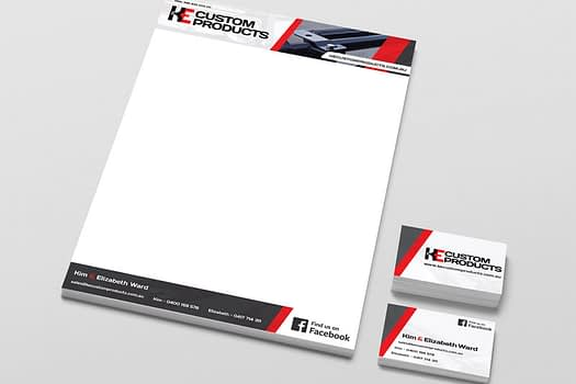 KE Custom Products | Business Stationary Design