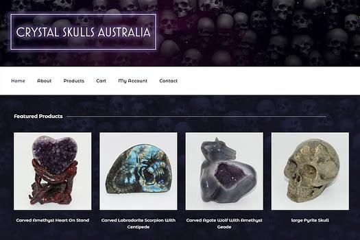 Crystal Skulls Australia | Website Design