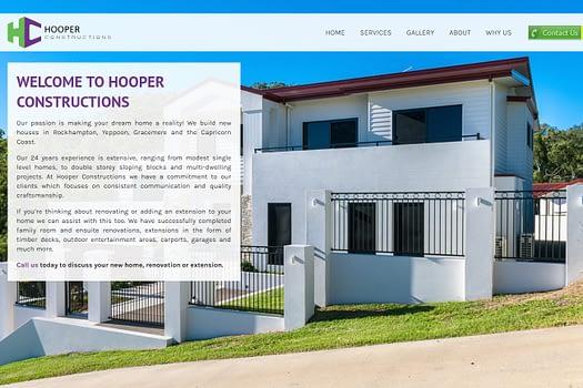 Hooper Constructions Rockhampton | Website Development