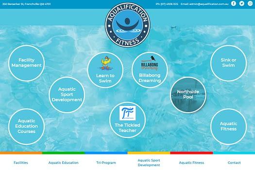 Aqualification & Fitness Rockhampton | Website Design