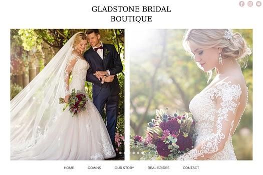 Gladstone Bridal Gladstone | Website Design