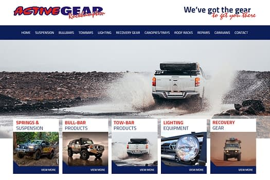Active Gear Rockhampton | Web Design