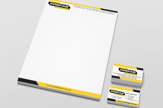 Prefab Gladstone | Business Stationary Design