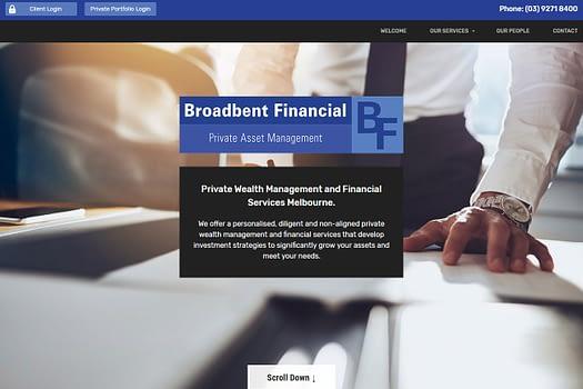 Broadbent Financial Melbourne | Web Design