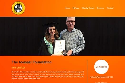 Iwasaki Foundation Australia | Web Design