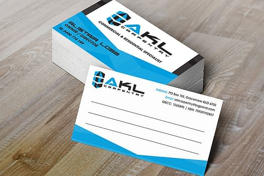 AKL Carpentry Rockhampton | Business Card Design