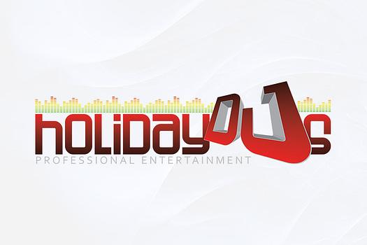 Holiday DJ's Rockhampton | Combination Logo Design