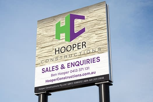 Hooper Constructions Rockhampton | Signage Graphic Design