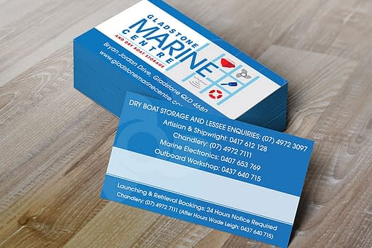 Gladstone Marine Centre | Business Card Design