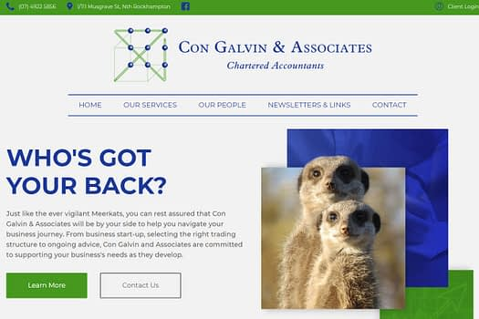 Con Galvin & Associates | Website Development