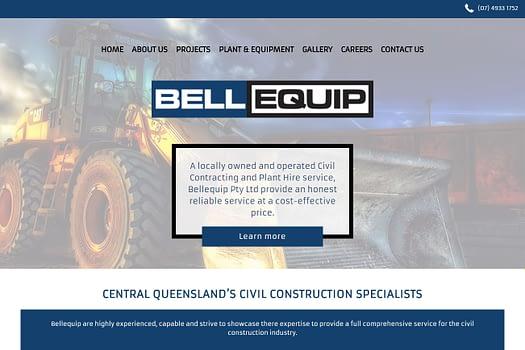 Bellequip Rockhampton | Website Design
