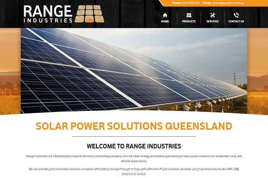 Range Industries Rockhampton | Web Design